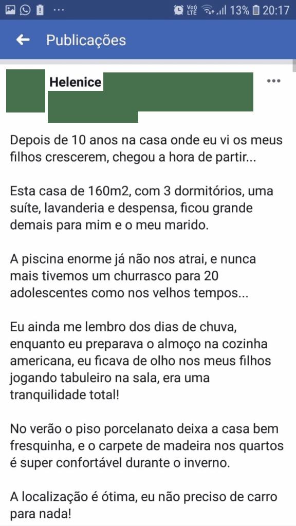 Anúncio de Casa no Facebook com copy perfeita - 02
